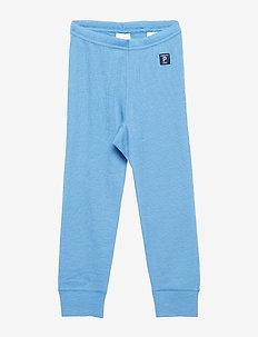 Long Johns Wool Solid PreSchool - PARISIAN BLUE