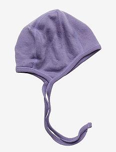 Helmet Wool Solid Baby - hatter - aster purple