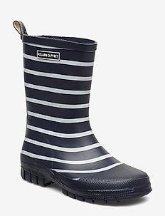 Rubber boots Stripe Preschool - DARK SAPPHIRE