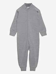 Overall Solid Wool PreSchool - bodyer - greymelange