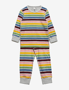 Pyjamas Striped Preschool - GREYMELANGE