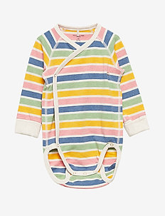 Body Wrapover PO.P Striped Baby - ECRU MELANGE