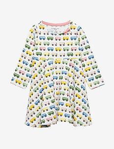 Dress L/S AOP Baby - kjoler - egret