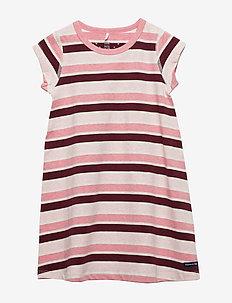 Nightdress Stripe Preschool - TAWNY PORT