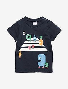 T-shirt Frontprint S/S Preschool - DARK SAPPHIRE