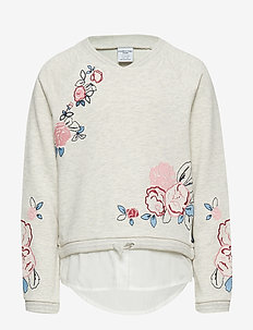Sweatshirt appliqe School - ECRU MELANGE