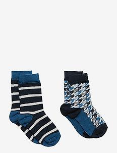 Socks 2P Jaquard Preschool - DARK SAPPHIRE
