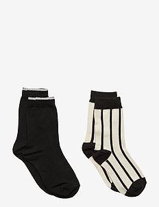 Socks 2P Jaquard School - BLACK