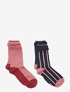 Socks 2P Jaquard School - BRANDIED APRICOT