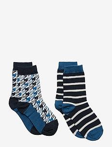 Socks 2P Jaquard School - DARK SAPPHIRE