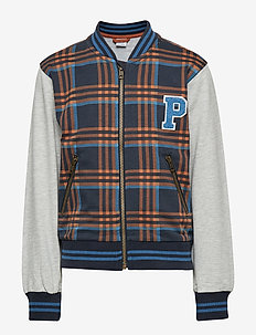 Jacket w cotton School - DARK SAPPHIRE