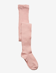 Tights Solid Rib School - SILVER PINK