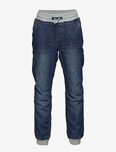 Jeans w Rib cuff and lining School - BLUE DENIM
