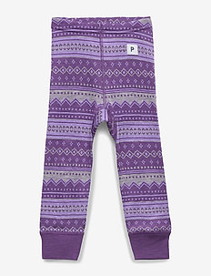 Trousers Wool Jaquard Baby - ASTER PURPLE