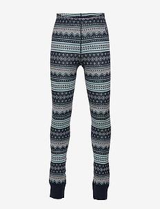 Trousers Wool Jaquard Preschool - DARK SAPPHIRE