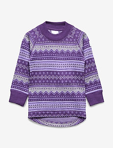 Top Wool Jaquard Pre school - ASTER PURPLE