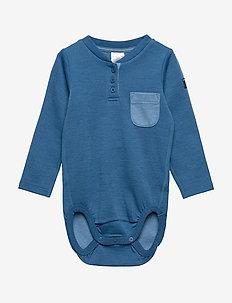 Body w.pocket Baby - DARK BLUE