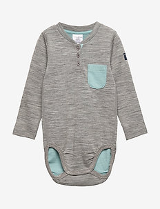 Body w.pocket Baby - GREYMELANGE