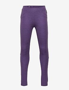 Trousers w frill Preschool - bukser - loganberry