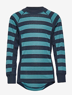 Sweater Polyester Solid School - STORM BLUE