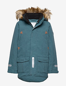 Jacket Padded w Hood School - STORM BLUE