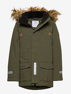Jacket Padded w Hood School - parki - olive night