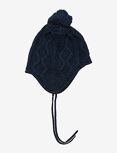 Cap Knitted Solid Baby - DARK SAPPHIRE