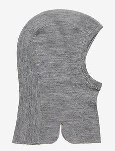 Balaclava Wool Solid Baby - GREYMELANGE