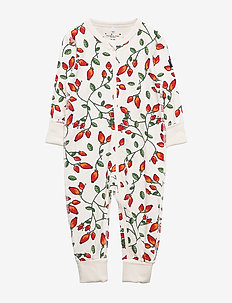 Pyjamas Overall AOP Baby - EGRET