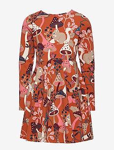 Dress AOP pre- school - kjoler - burnt brick