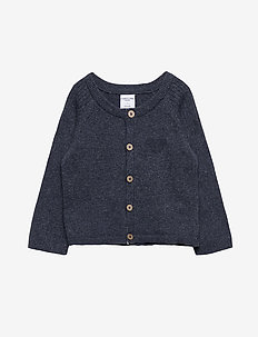 Top L/S Knitted Baby - cardigans - dark sapphire