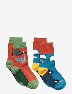 2-Pack Sock Jaquard Baby - BURNT BRICK