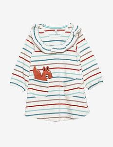 Dress L/S Striped Baby - kjoler - brandied apricot