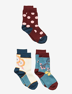 3-Pack Sock Jaquard Preschool - BURNT BRICK