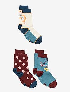 3-Pack Sock Jaquard School - BURNT BRICK
