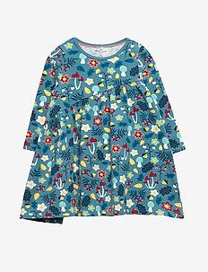 Dress L/S AOP Baby - STORM BLUE