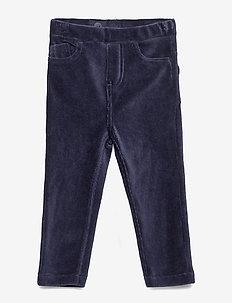 Jersey cord trousers Preschool - DARK SAPPHIRE