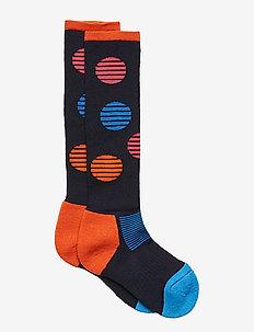 Thick Wool Ski Sock School - DARK SAPPHIRE