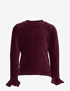 Top l/s solid School - TAWNY PORT