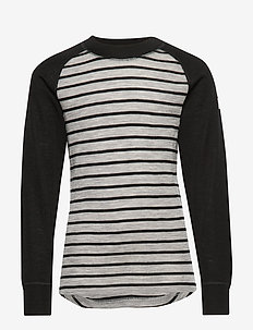 Sweater Wool Striped School - GREYMELANGE