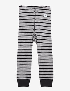 Long Johns Wool Striped Pre-shool - GREYMELANGE