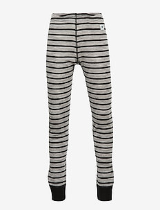 Long Johns Wool Striped Shool - GREYMELANGE