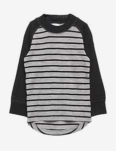 Sweater Wool Striped PreSchool - GREYMELANGE