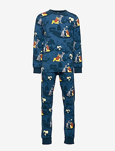 Disney Collection Pyjamas AOP Preschool - DARK BLUE