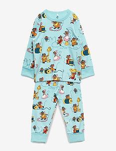 Pyjamas AOP Preschool - MARINE BLUE