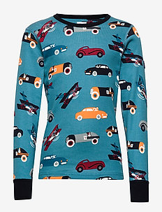 Top l/s AOP Pre-school - STORM BLUE