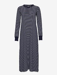 Nightdress L/S PO.P Striped Adult - DARK SAPPHIRE