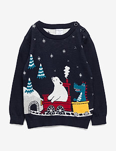 Sweater Knitted Pre-school - DARK SAPPHIRE