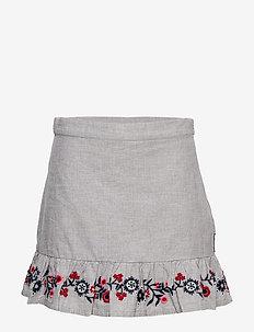 Skirt w embroidery School - spódnice - greymelange
