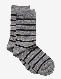 Socks Wool Jaquard Preschool - GREYMELANGE